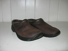 MERRELL Women's Jungle Primo Dark Brown Suede Leather Moc Clog Shoe Sz 6.5