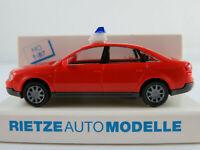 "Rietze 50902 Audi A6 Limousine (1997-2004) ""FEUERWEHR"" in rot 1:87/H0 NEU/OVP"