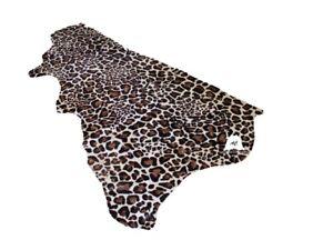 Leopard Print on Beige Cowhide - Half Hide 18 SqFt | Cowhide for Leatherwork