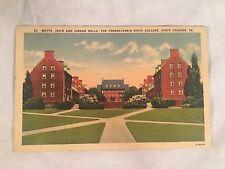 Postcard : State College, PA Watts Irvin & Jordan Halls Penn State : Unposted