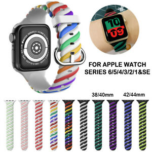 For Apple iWatch Series 6 SE 5 4 3 2 1 44/42/40/38 MM Watch Strap Band Silicone