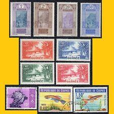 LOT 11 TIMBRES POSTE DE GUINEE (AOF) EX COLONIE FRANCAISE - 1913 A 1964 NEUFS**