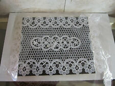 Crocheted Rectangular Lace Placemat with Intricate Detail Made in India