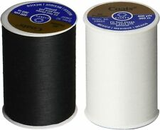 (2 Pack) Coats and Clark 1 Black 1 White all purpose thread 400 yard spool