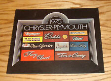 Original 1975 Chrysler Plymouth Full Line Sales Brochure 75 Fury New Yorker