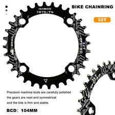 32T BCD104 Narrow Wide Single MTB Bike Bicycle Crankset Chainring Guard Black
