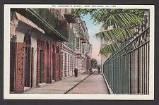 Postcard - View of Saint Anthony's Alley, New Orleans, LA. Postmarkred 1938