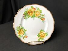 "Vintage Royal Albert Yellow Tea Rose 8 &1/8"" Salad or Dessert Plate Scalloped"