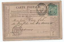 1876 PRECURSEUR AVEC 10 C SAGE N°65 TYPE I