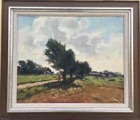 Gustav Berlin 1905 - 1988 Sommerlandschaft in Südschweden Skane 60 x 70 cm