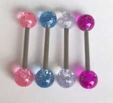 Belly bars bar navel ring body piercing crystal glitter surgical steel 316L
