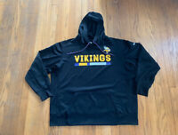 Minnesota Vikings Nike On Field Team Issued Hoodie Mens XXL Black EUC Rare NFL