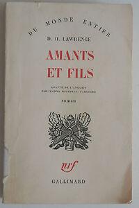 Amants et Fils - D H Lawrence Adapté de l'anglais par Jeanne Fournier Pargoire