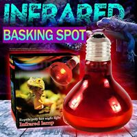 40/60/100 W Infrared Basking Spot Lamp Single Max Heat Reptile Red Bulb Light