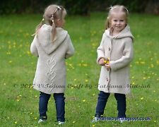 Knitting Pattern - Hearts Queen Coat, Cardigan, Jacket (Baby, Child, Teen sizes)