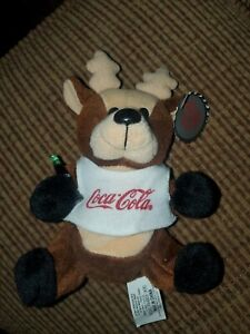 Coca-Cola Bean Bag Plush style 0133 Raindeer in shirt 1997 Animal Plush