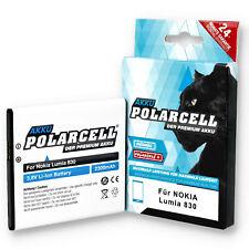 PolarCell Akku für Nokia Lumia 830 Microsoft Lumia 540 Dual Sim BV-L4A Batterie
