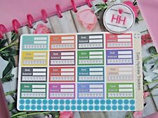 Daily Hydrate - Planner/Diary/Scrapbooking Stickers -Hand Drawn- Glossy Paper