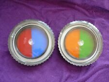 Hoya 58mm dual-color filters, 1 x orange/green, and 1 x red/blue, with cases.