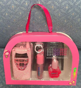 CLAIRES PAMPER ME COSMETIC CELL PHONE/BEAUTY BOX SET SUPER CUTE!!