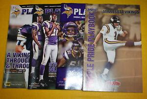 Minnesota Vikings Playbook Program Magazine | 2000 to 2009 | You Pick