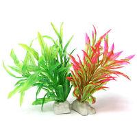 Neu Künstliche Wasser Pflanze Grass Aquarium Kunststoff Decor