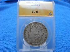 Tough Date 1896-S Morgan Silver Dollar ANACS VG8