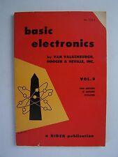 Basic Electronics Volume 3 Paperback 1955 Nooger & Neville Inc Van Valkenburgh