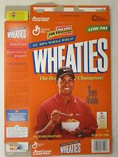 Empty WHEATIES Cereal Box 1998 TIGER WOODS Series 38 12 oz