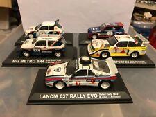 1 43 lotto lot 5 rally cars ixo minichamp gr b Audi Quattro 037 lancia 205 metro