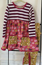 JELLY THE PUG 2 Piece Tyler Orchard Tree Dress & Leggings Size 6