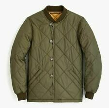 NWT J. Crew Wallace and Barnes Quilted Liner Barn Field Jacket Loden Green M