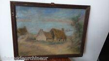 peinture maison de pêcheur en bretagne