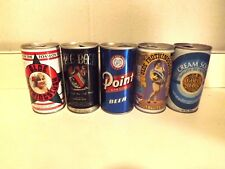 Assorted used Vintage Beer Cans Tins
