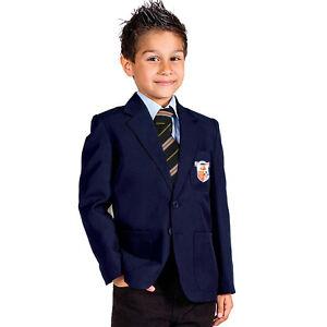 Kids Boys Wool School Blazer  Italian Wool Bell Baxter Badge BNWT
