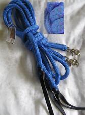 6ft Rope Split Reins BLU/PUR Natural Horsemanship, Western Riding, Campdrafting