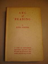 "Rare; Ezra Pound ""ABC of READING"" First Printing in Original Scarce 1934 Jacket"