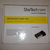Startech Mini USB to Bluetooth 2.1 Adapter Class 1 USBBT1EDR2 1 Year Warranty