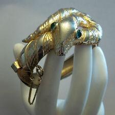 Vintage Trifari Snake Bracelet 1968 Garden of Eden Series RARE Haute Couture