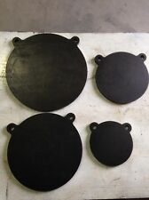 "AR500 Steel Gong Shooting Targets 4 Pieces Set 1/2"" X 6"", 8"", 10"", 12"""