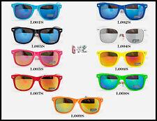 Occhiali Da Sole Uomo Donna DESIGN-UK Fashion Lenti Specchio piu colori IPM