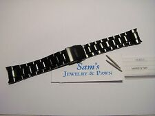 Seiko 21mm Black Metal Band SNAE77 SNAE80 SNAE65 SNAE67 SNAE69 SNAE75 #M0ND111M9