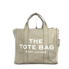 Auth MARC JACOBS SmallTravellerToteM M0016161 Beige Cream Canvas Tote Bag