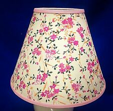 Pink Flowers Floral Handmade Lampshade Lamp Shade