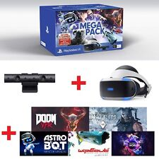 Sony Playstation VR Headset PS VR PSVR Virtual Reality Mega Bundle With 5 Games