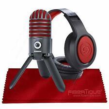 Samson Meteor Mic USB Studio Microphone, Limited Edition - Titanium Black/Red wi