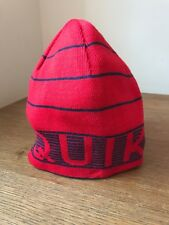 quicksilver reversible beanie red blue