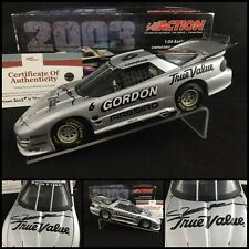 "2003 JEFF GORDON Autographed / Signed #6 TRUE VALUE ""IROC"" PONTIAC  1/24 W/COA"