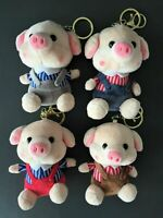 Kawaii Animal Pig Stuffed Soft Plush Toy Key Charm Chain Ring Bag Mobile JAPAN