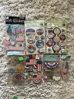 Huge Jolee's Boutique Scrapbooking Stickers Lot Of 7 USA America Fourth of July